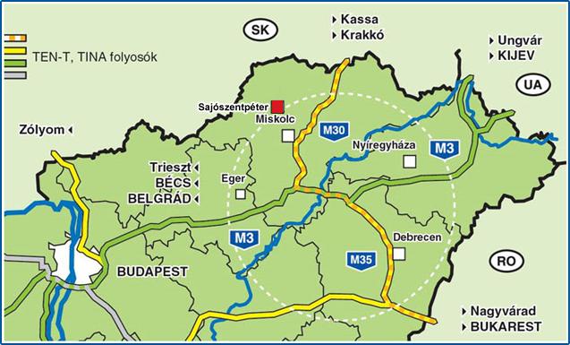 sajószentpéter térkép Location, approach Sajószentpéter Borsod Abaúj Zemplén county  sajószentpéter térkép